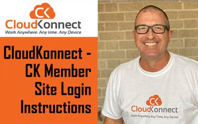CloudKonnect – CK Member Site Login Instructions
