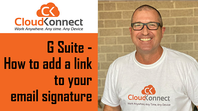 G Suite – How to add a link to your email signature