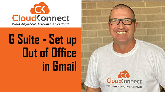 G Suite – Set up Out of Office in Gmail
